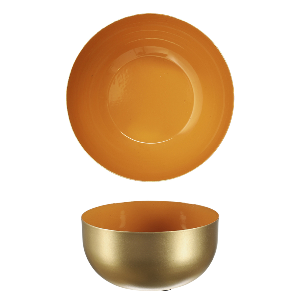 Coupelle métal \'Boho\' orange doré - 12x6 cm - [A1715]