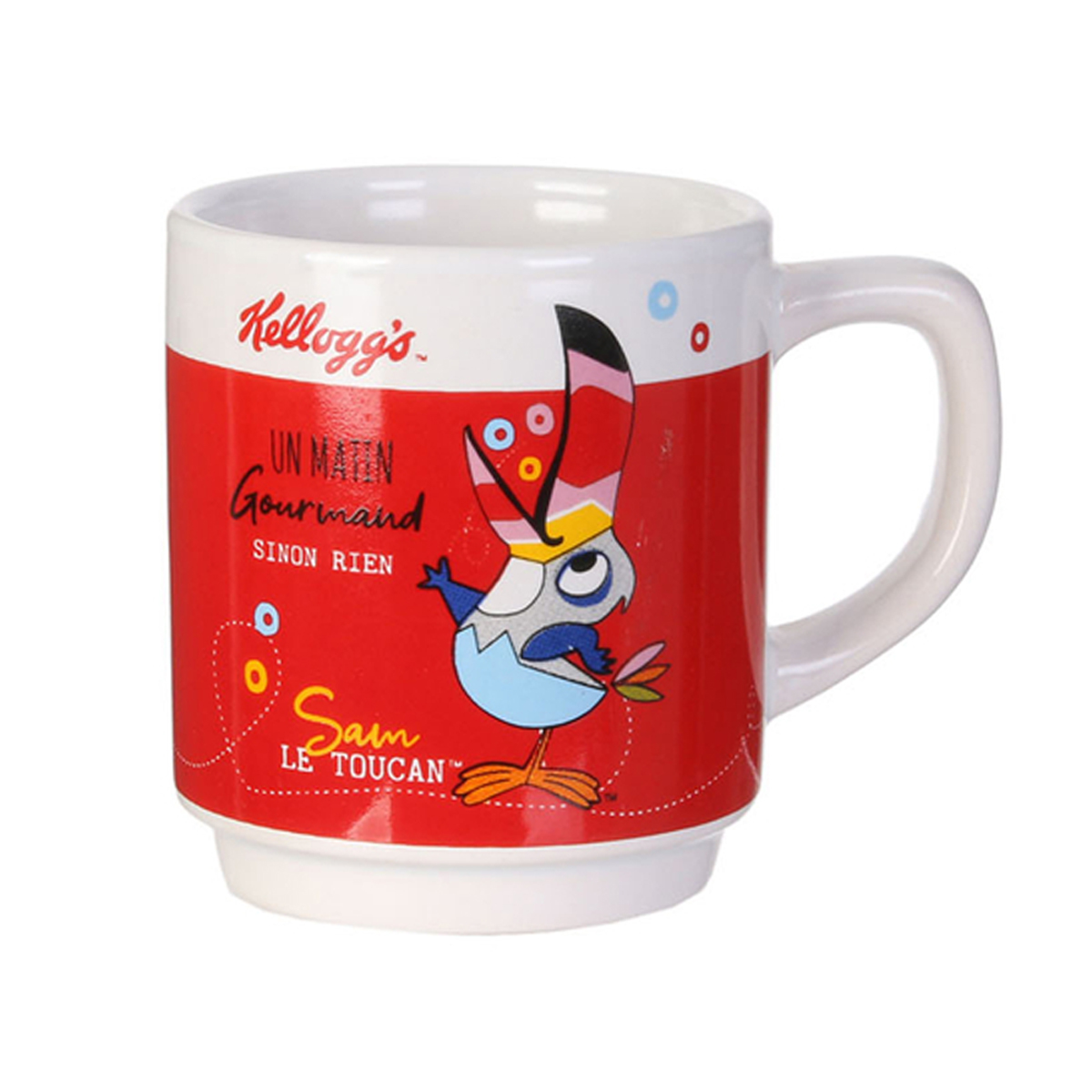 Mug céramique empilable \'Kellogg\'s\' rouge - 8x6 cm (12 cl) - [A1751]