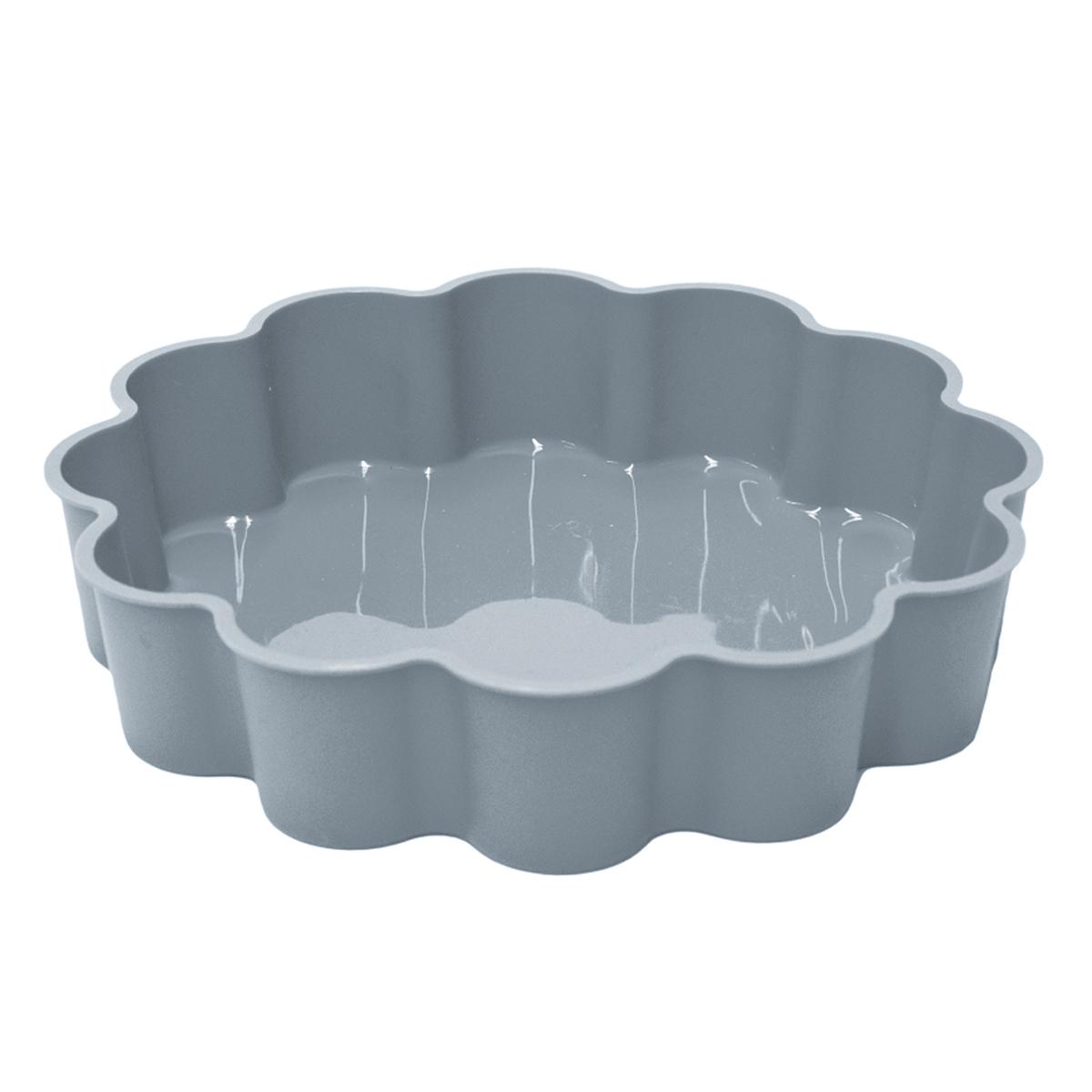 Moule silicone \'Part de Coeur\' gris - 24x5 cm - [A1760]