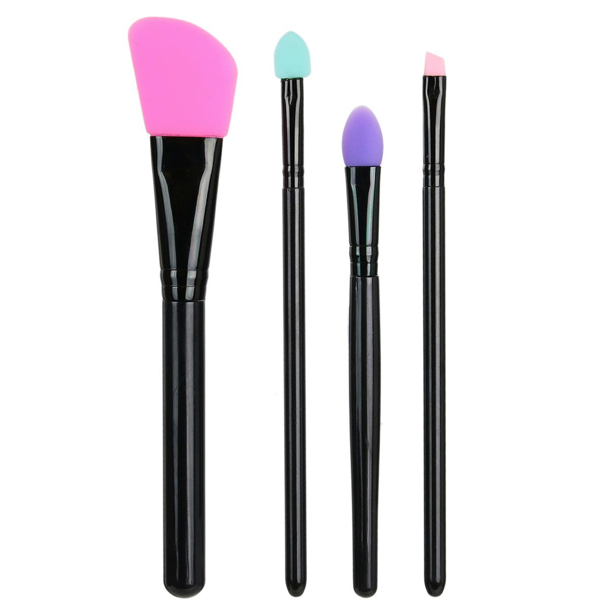 4 pinceaux de maquillage silicone \'Scarlett\' - 16x6 cm - [A1779]