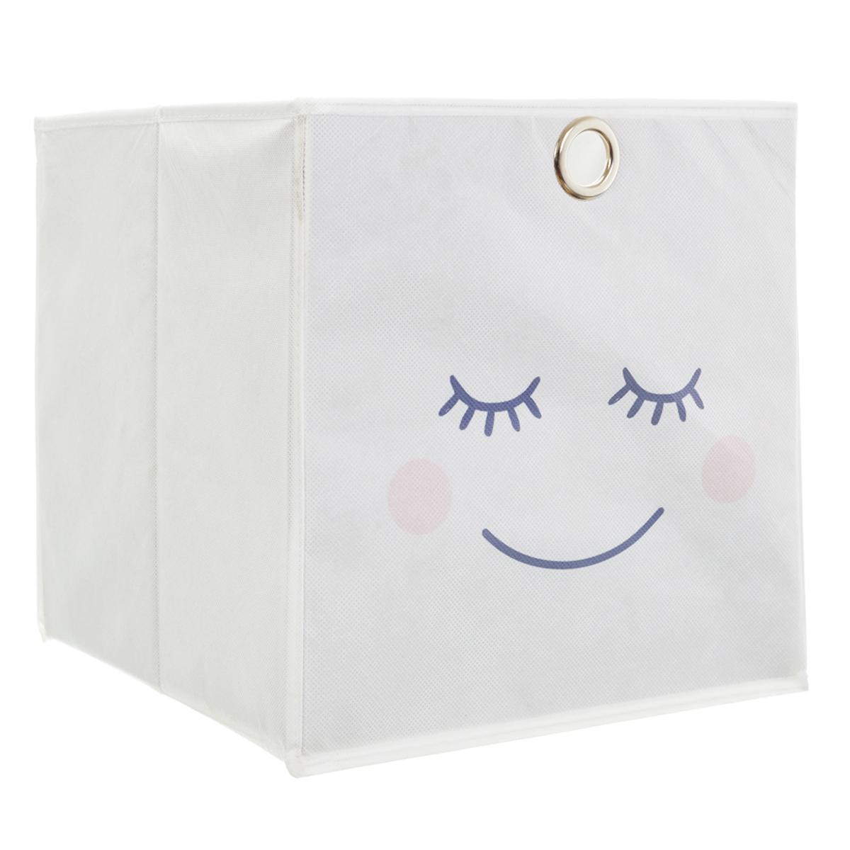 Cube de rangement \'Diva - Yeux Endormis\' blanc - 30x30 - [A1797]