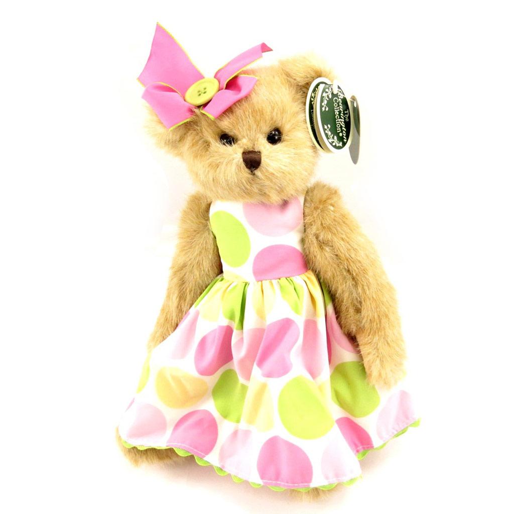 Peluche créateur \'Teddy Bear\' rose vert - 35 cm - [L0818]