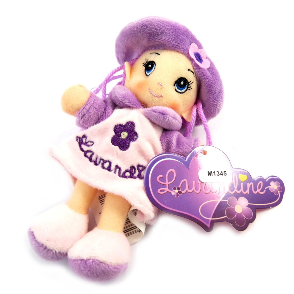 Peluche design \'Lavandine\' violet (15 cm) - [M1345]