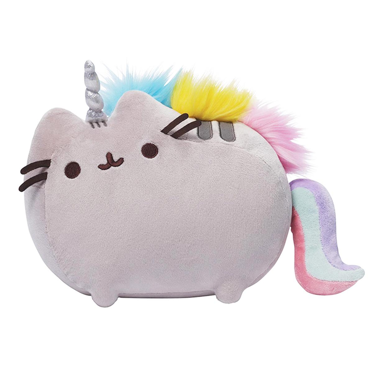 Peluche créateur \'Pusheen\' (licorne -unicorn) gris multicolore - 295x215 cm - [P6508]