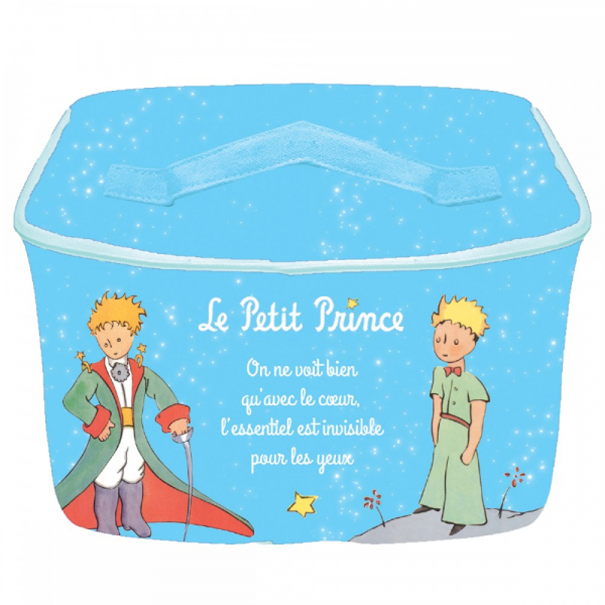 Sac repas isotherme \'Le Petit Prince\' turquoise - 23x155x13 cm - [R2014]