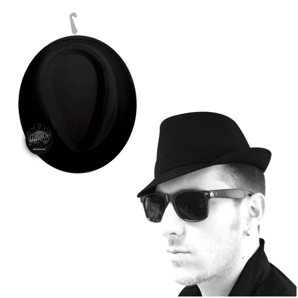 Borsalino \'Black Party\' noir - [M5166]