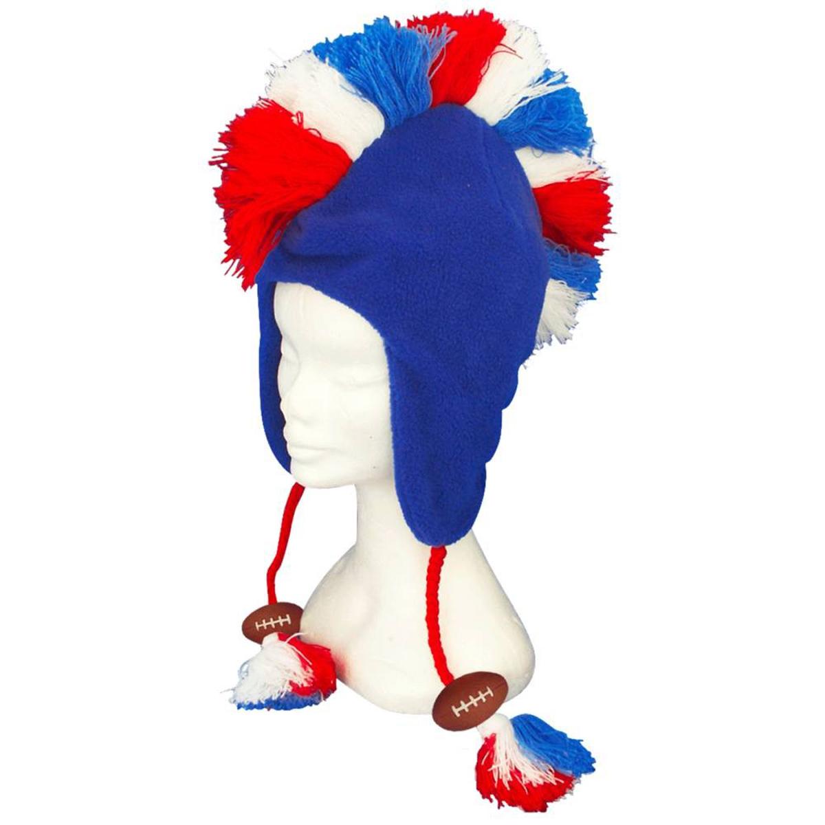 Bonnet humoristique \'France Cocorico\' tricolore (rugby, crète) - 30x25 cm - [Q3239]