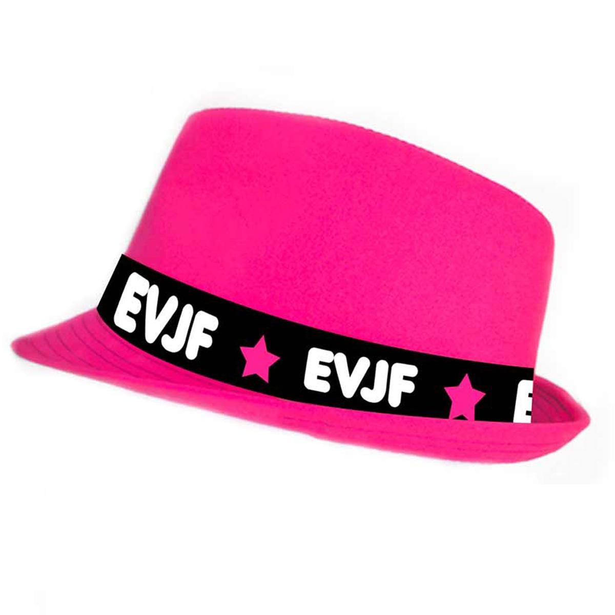Chapeau Borsalino \'EVJF\' rose - taille unique - [Q6919]
