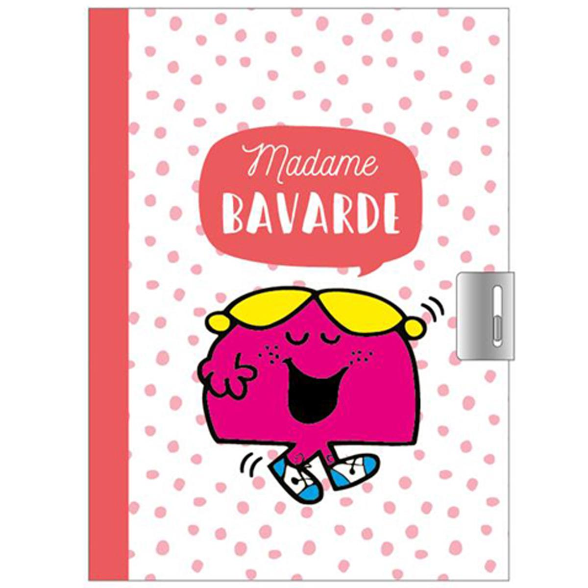 Journal Intime \'Monsieur Madame\' orange (Mme Bavarde) - 17x125 cm - [Q9000]