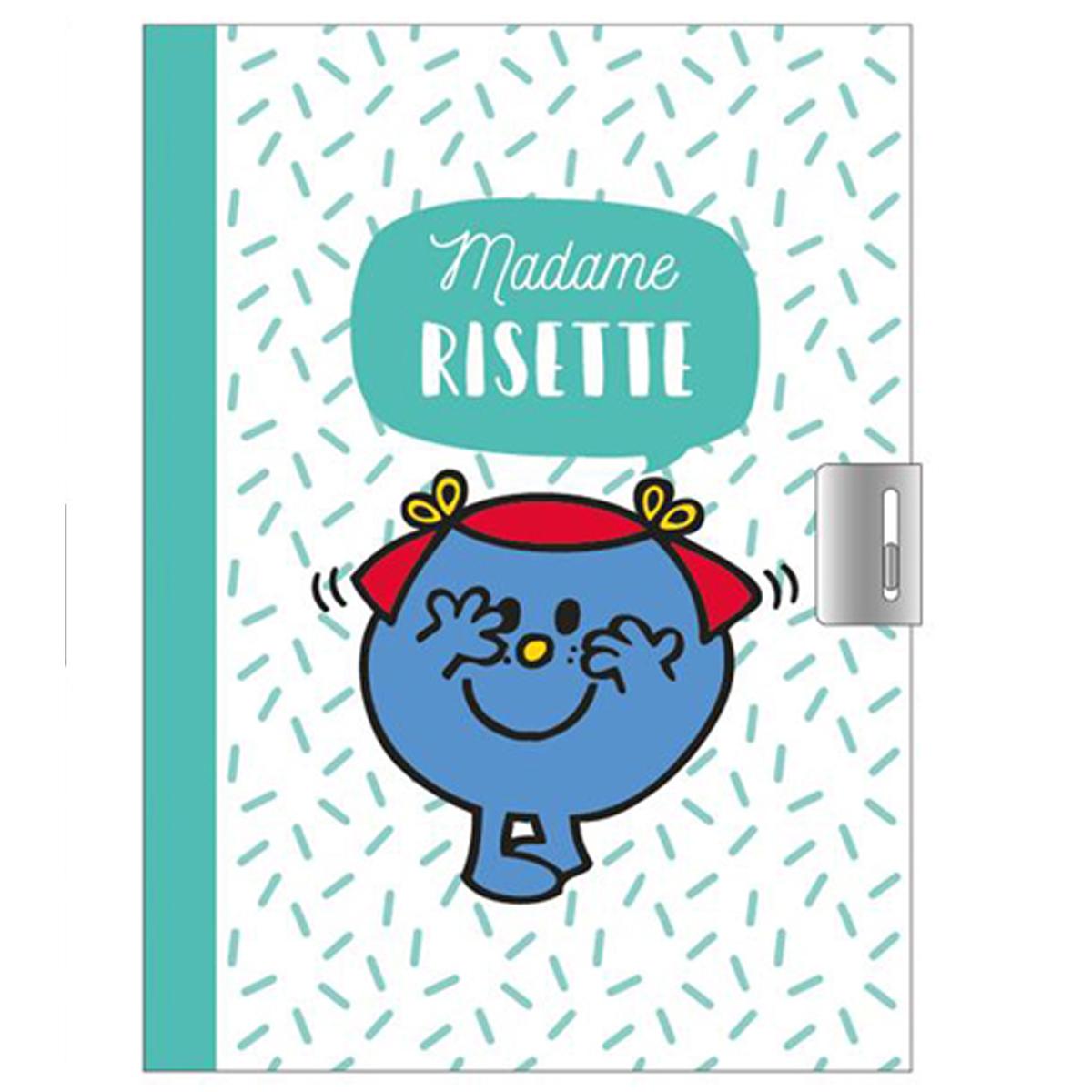 Journal Intime \'Monsieur Madame\' vert (Mme Risette) - 17x125 cm - [Q9303]