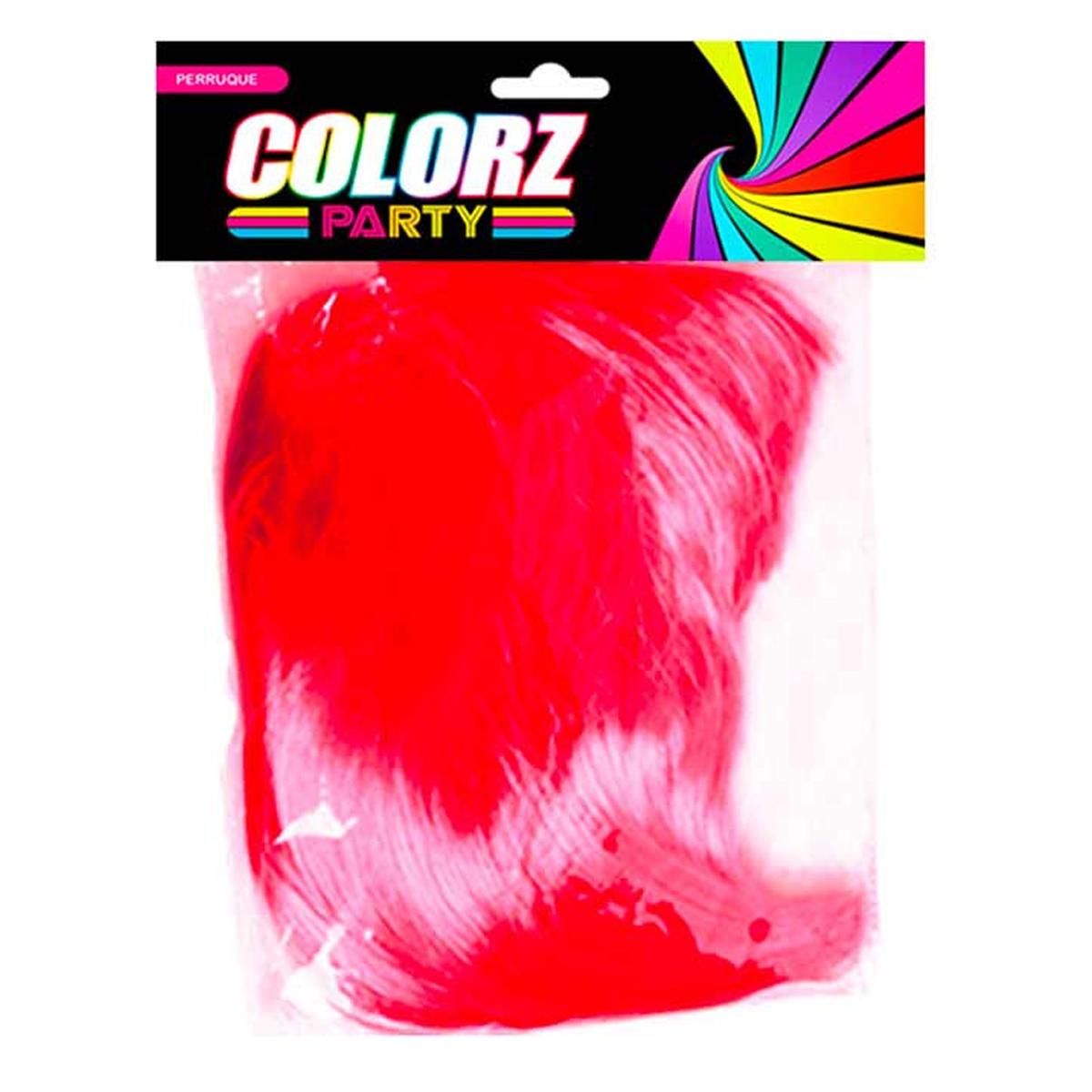 Perruque \'Coloriage\' rouge - 26 cm - [R2617]