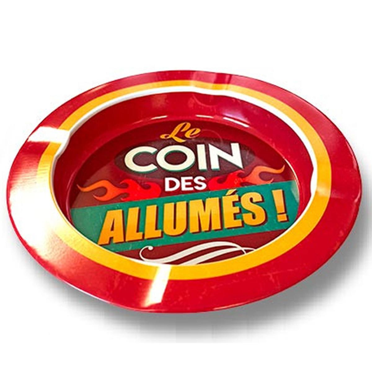 Cendrier métal \'Le coin des Allumés !\' - 13 cm - [A1886]