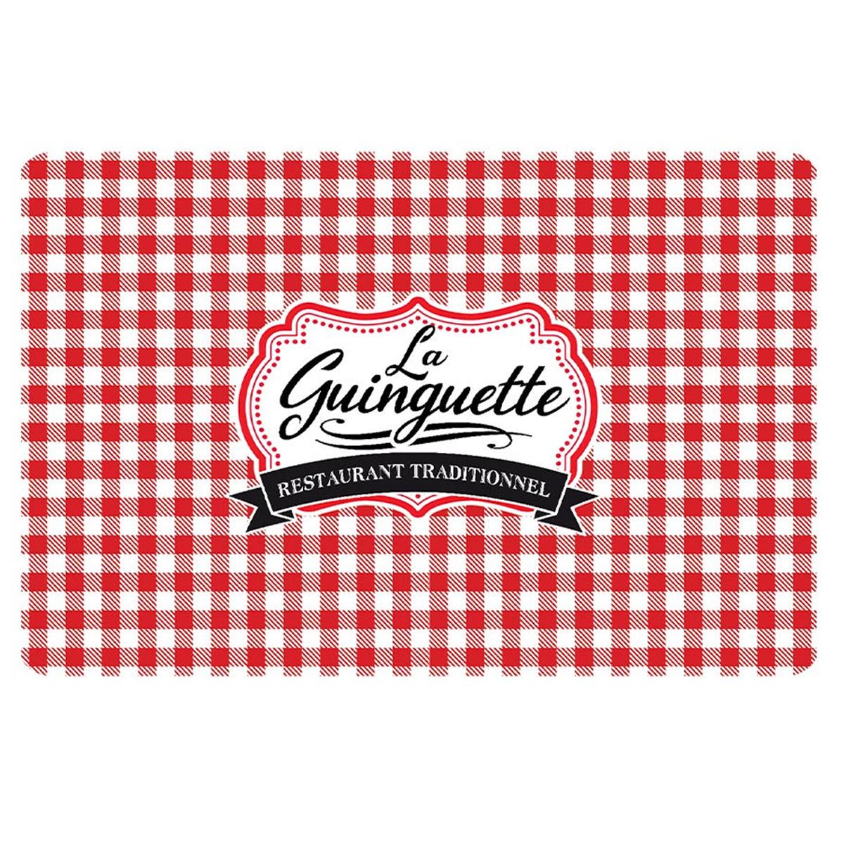Set de table \'La Guinguette\' carreaux rouge blanc - 43x28 cm - [A1897]