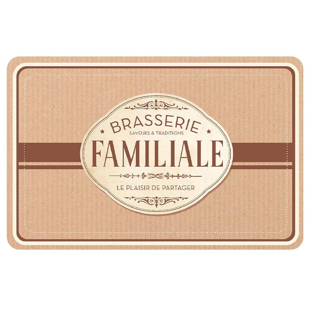 Set de table \'Brasserie Familiale\' marron - 43x28 cm - [A1898]