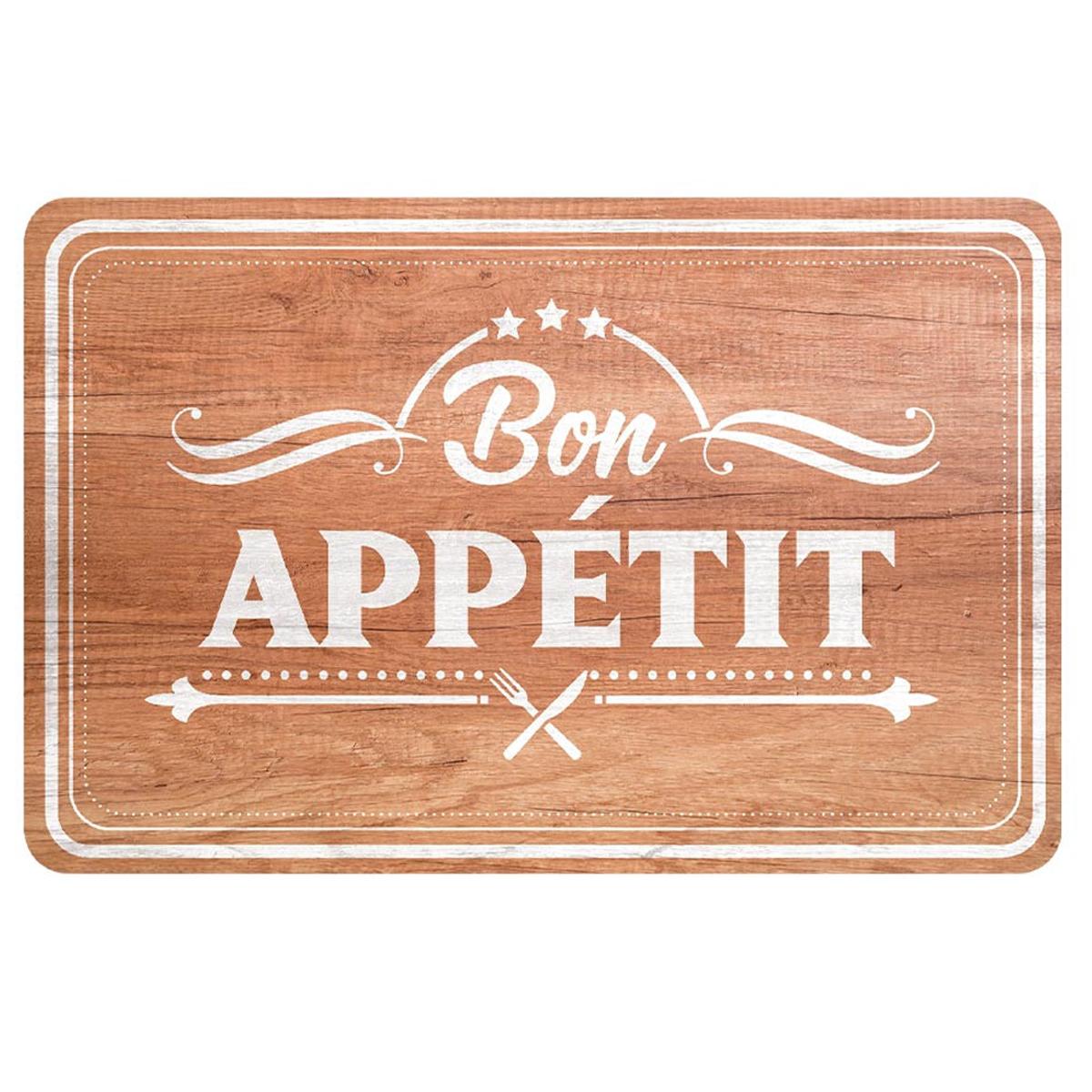 Set de table \'Bon Appétit\' marron - 43x28 cm - [A1899]