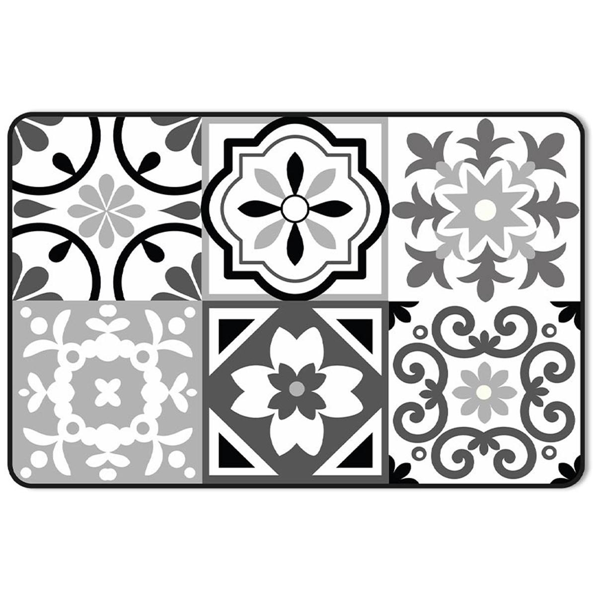 Set de table \'Carreaux de Ciment\' noir gris blanc - 43x28 cm - [A1903]