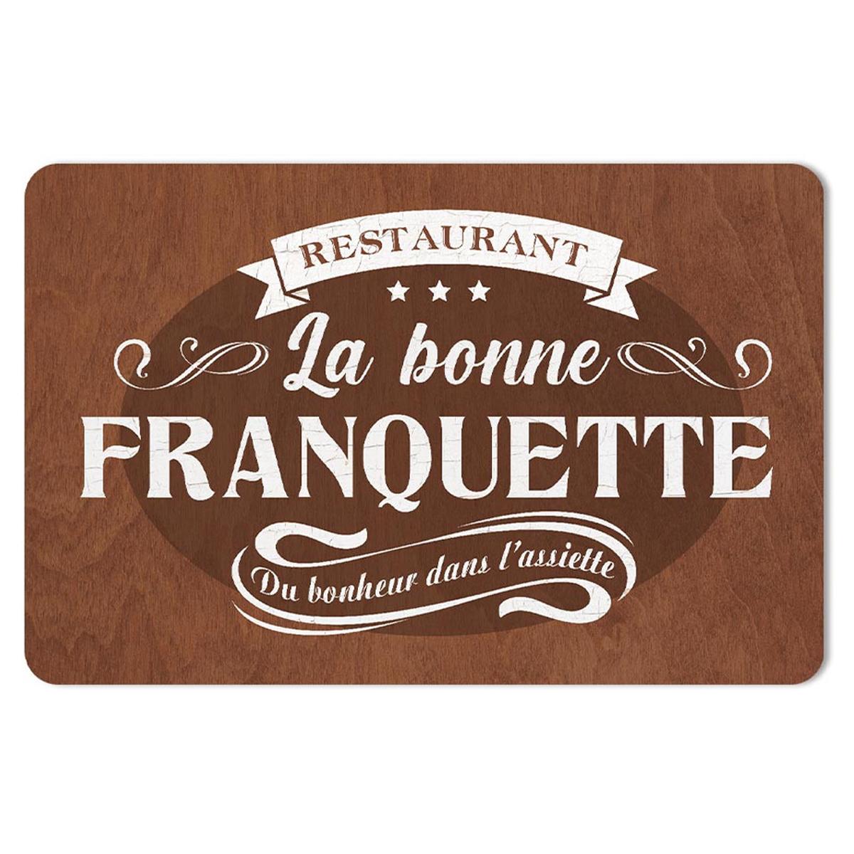 Set de table \'Restaurant La Bonne Franquette\' marron - 43x28 cm - [A1904]