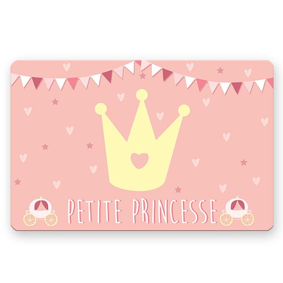 Set de table \'Petite Princesse\' rose - 43x28 cm - [A1907]