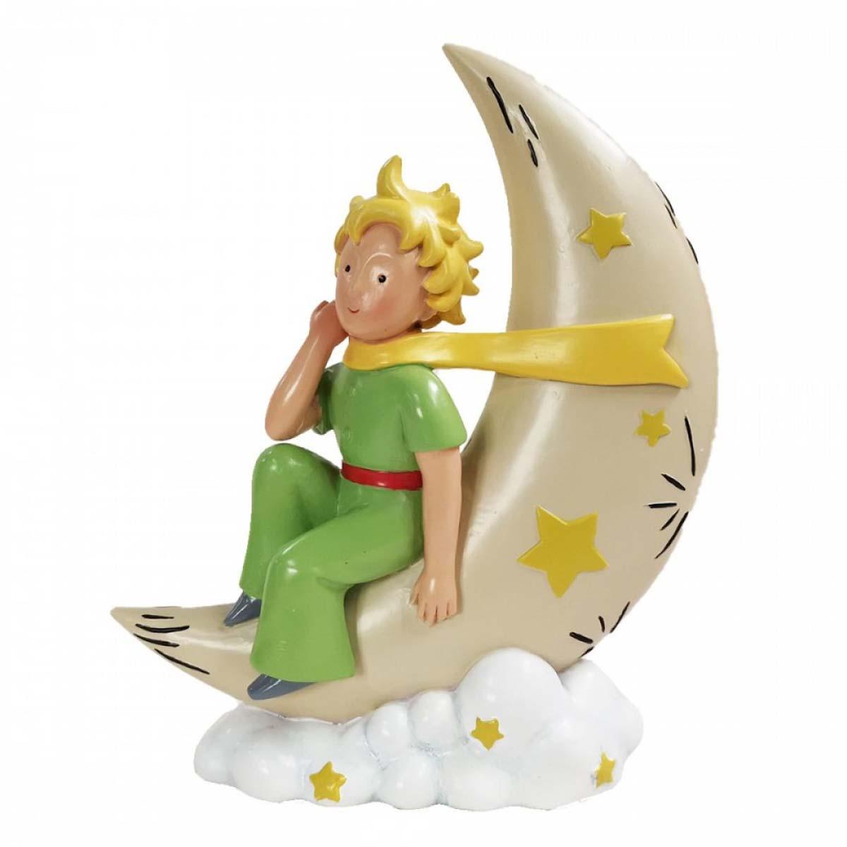 Figurine créateur \'Le Petit Prince\' vert beige (lune) - 16x13 cm - [A0869]