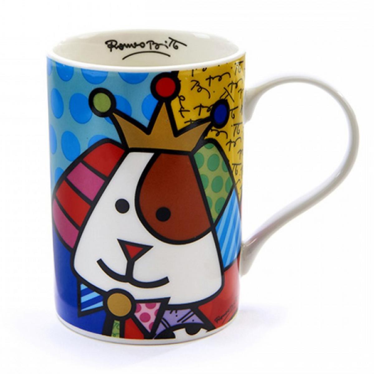 Mug créateur céramique \'Britto\' multicolore (chien) - 105x70 mm - [A1963]