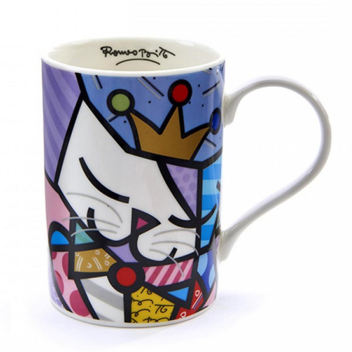 Mug créateur céramique \'Britto\' multicolore (chat) - 105x70 mm - [A1964]
