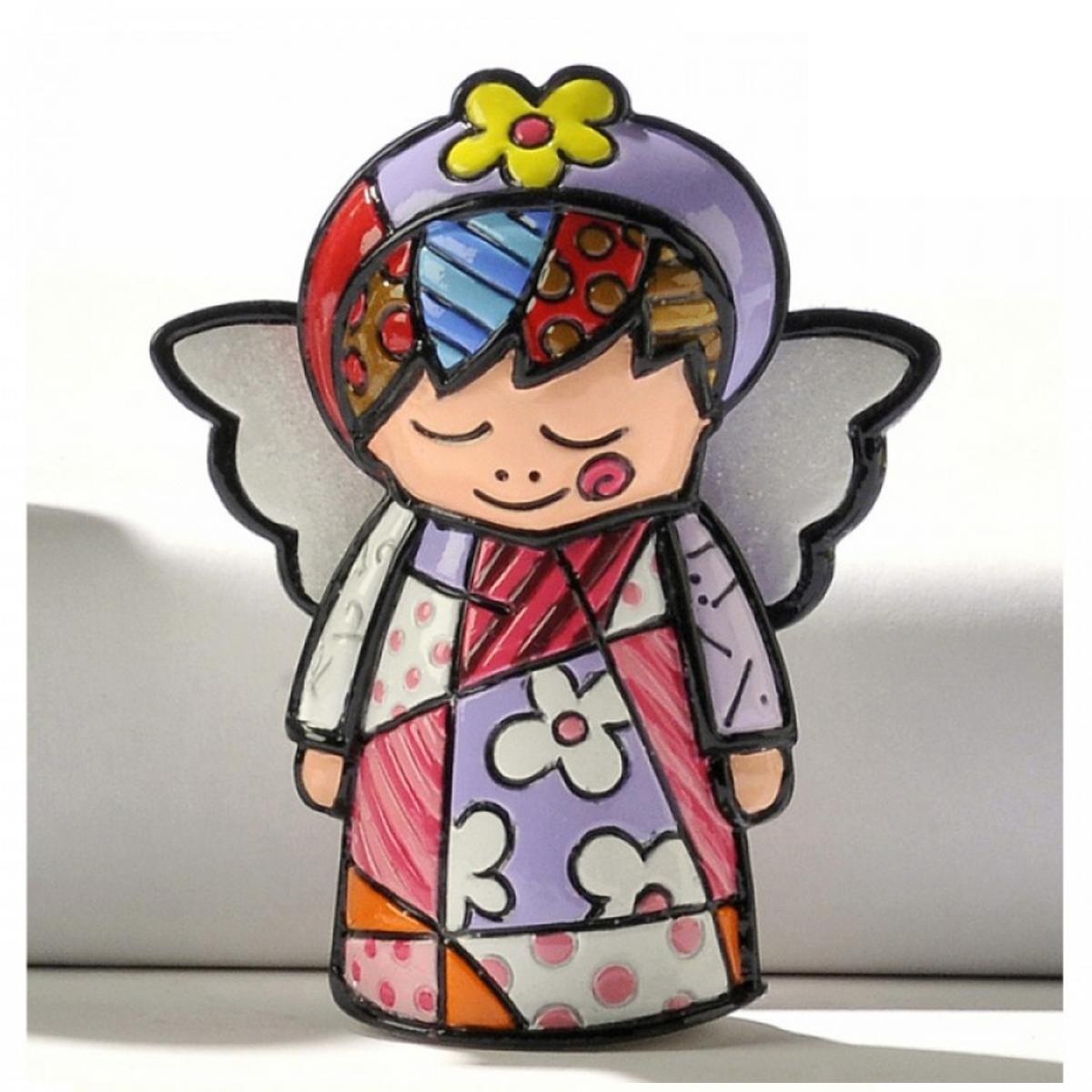 Figurine créateur \'Britto\' multicolore (ange) - 65 mm - [A1967]
