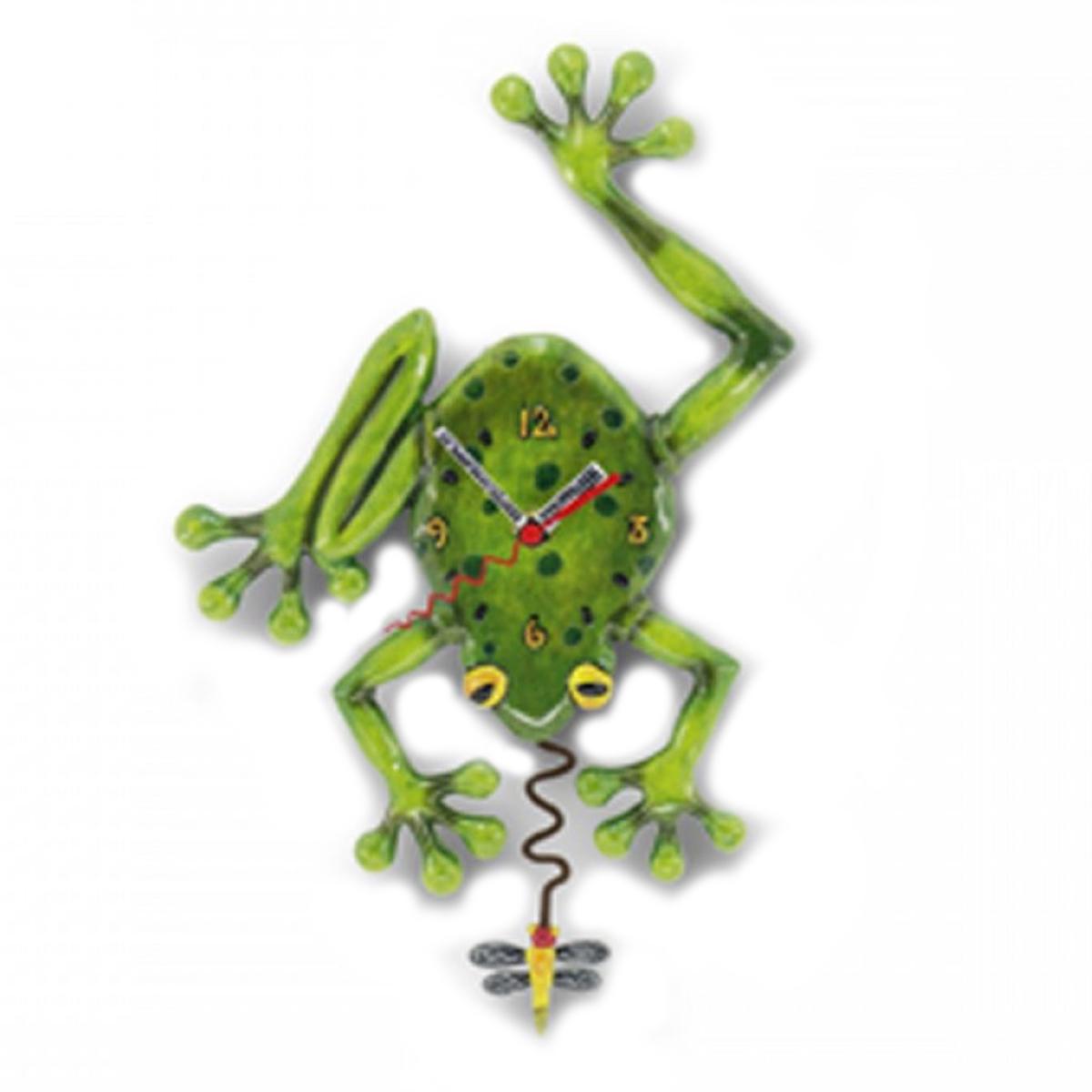Horloge Murale \'Allen Designs\' vert (grenouille) - 36x20 cm - [A1978]