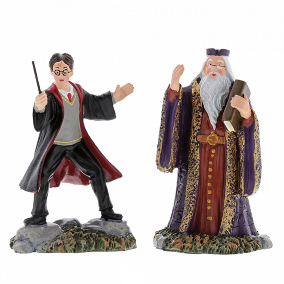 Figurine résine \'Harry Potter\' Harry et Dumbledore - hauteur 8 cm - [A1993]