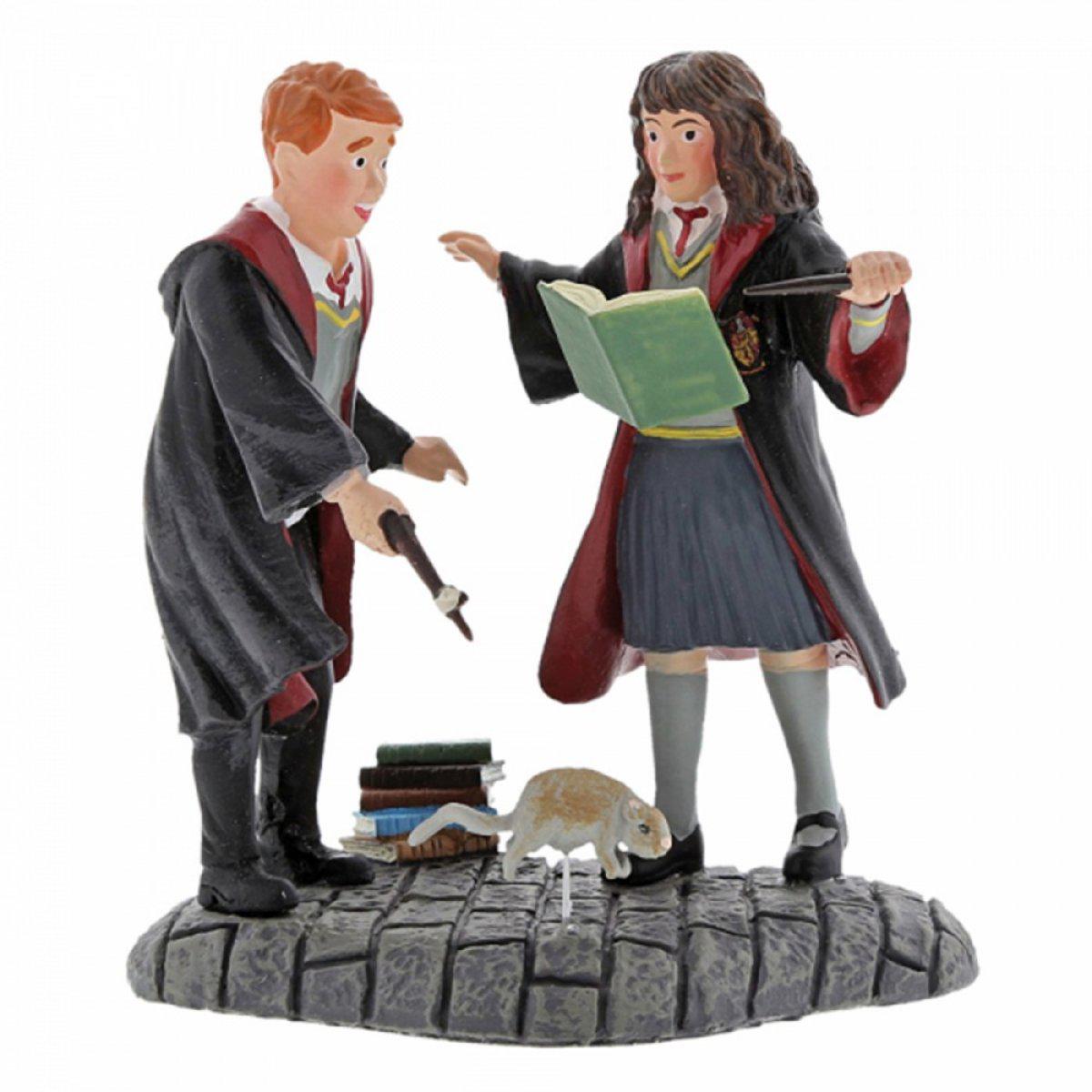 Figurine résine \'Harry Potter\' Hermione et Ron - hauteur 7 cm (Wingardium Leviosa) - [A1994]