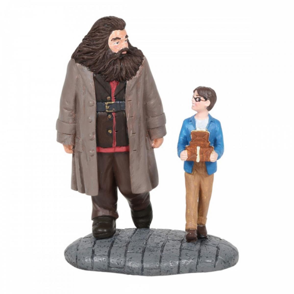 Figurine résine \'Harry Potter\' Harry et Rubeus Hagrid - hauteur 8 cm - [A1995]