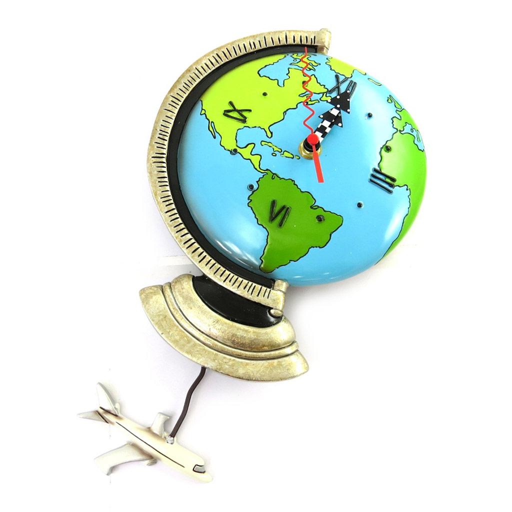 Horloge Murale \'Allen Designs\' Globe Terrestre (22x18 cm) - [M9888]
