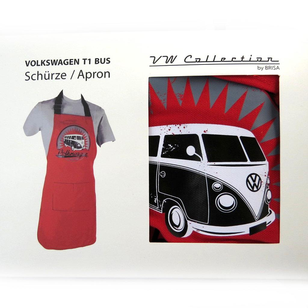 Tablier créateur \'Volkswagen\' rouge - 78x665 cm - [N4536]