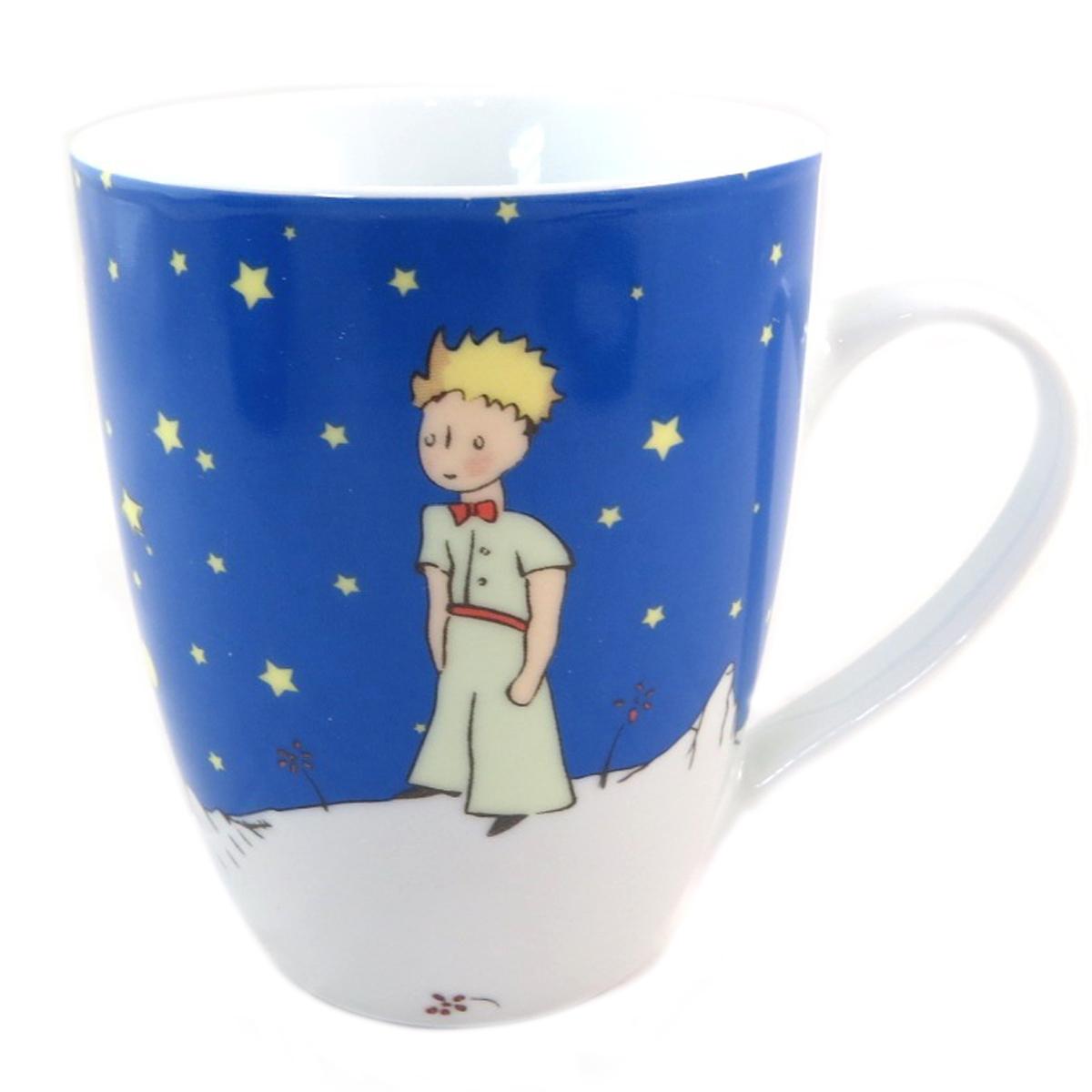 Coffret mug porcelaine \'Le Petit Prince\' marine - 8x10 cm - [P9909]