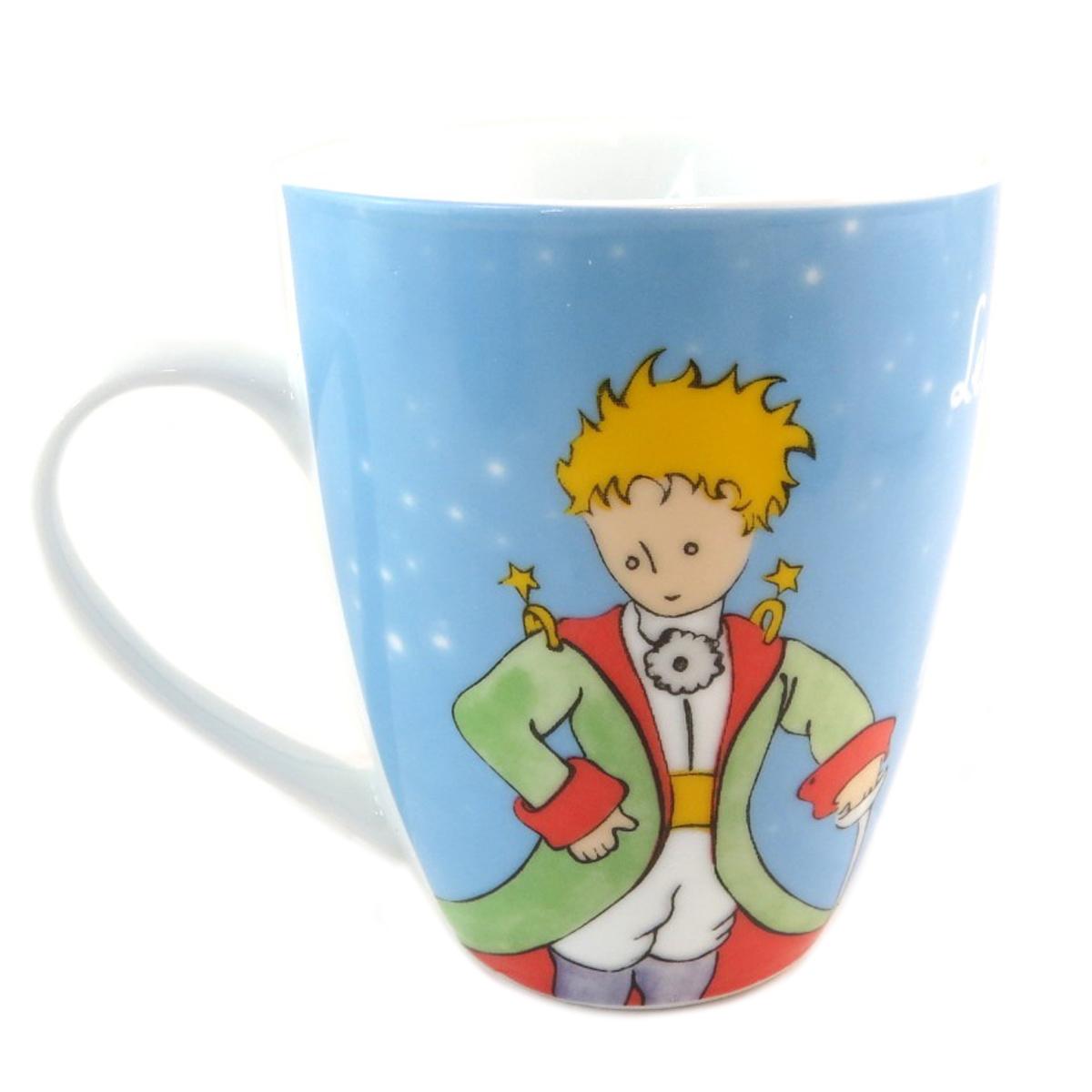Coffret mug porcelaine \'Le Petit Prince\' bleu ciel - 10x8 cm - [P9910]