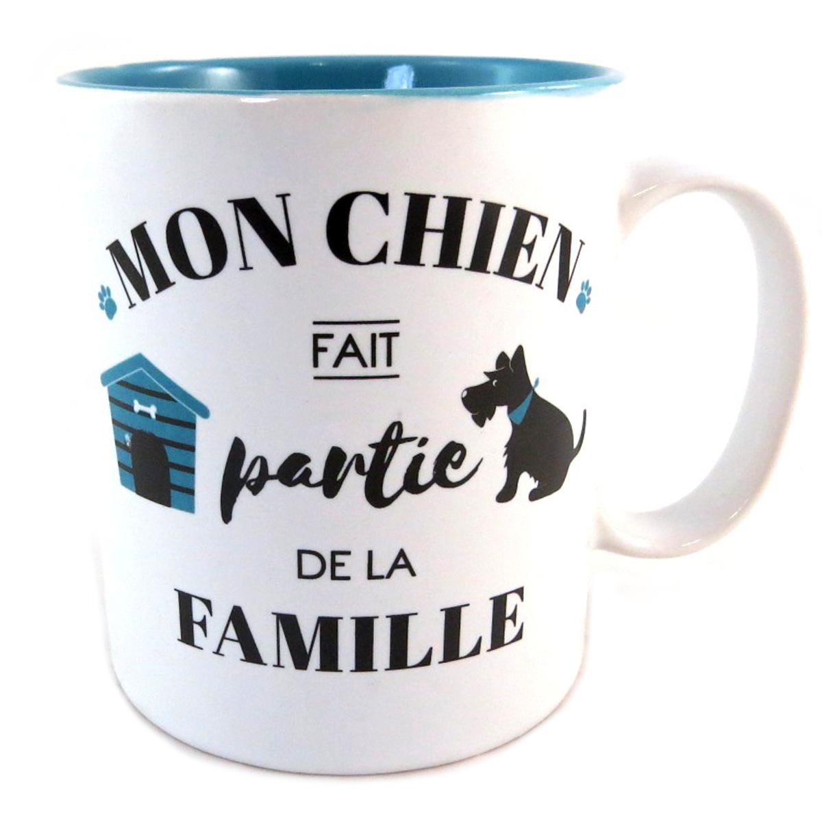 Mug céramique \'Toutou\' (Mon Chien fait partie de la Famille) - [Q0393]
