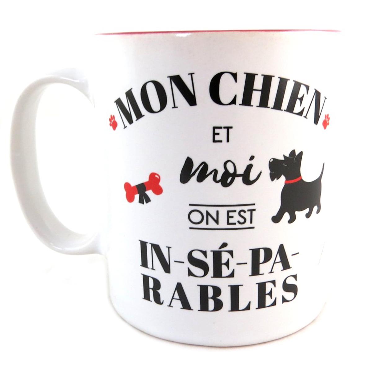 Mug céramique \'Toutou\' (Mon Chien et Moi on est In-sé-pa-rables) - [Q0394]