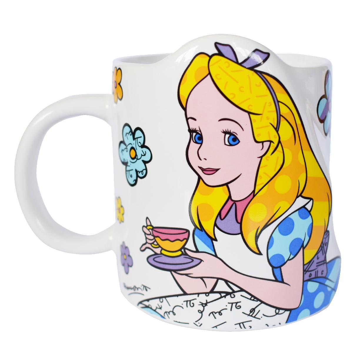 Mug céramique \'Alice\' multicolore (Britto) - 95x80 mm - [Q3774]