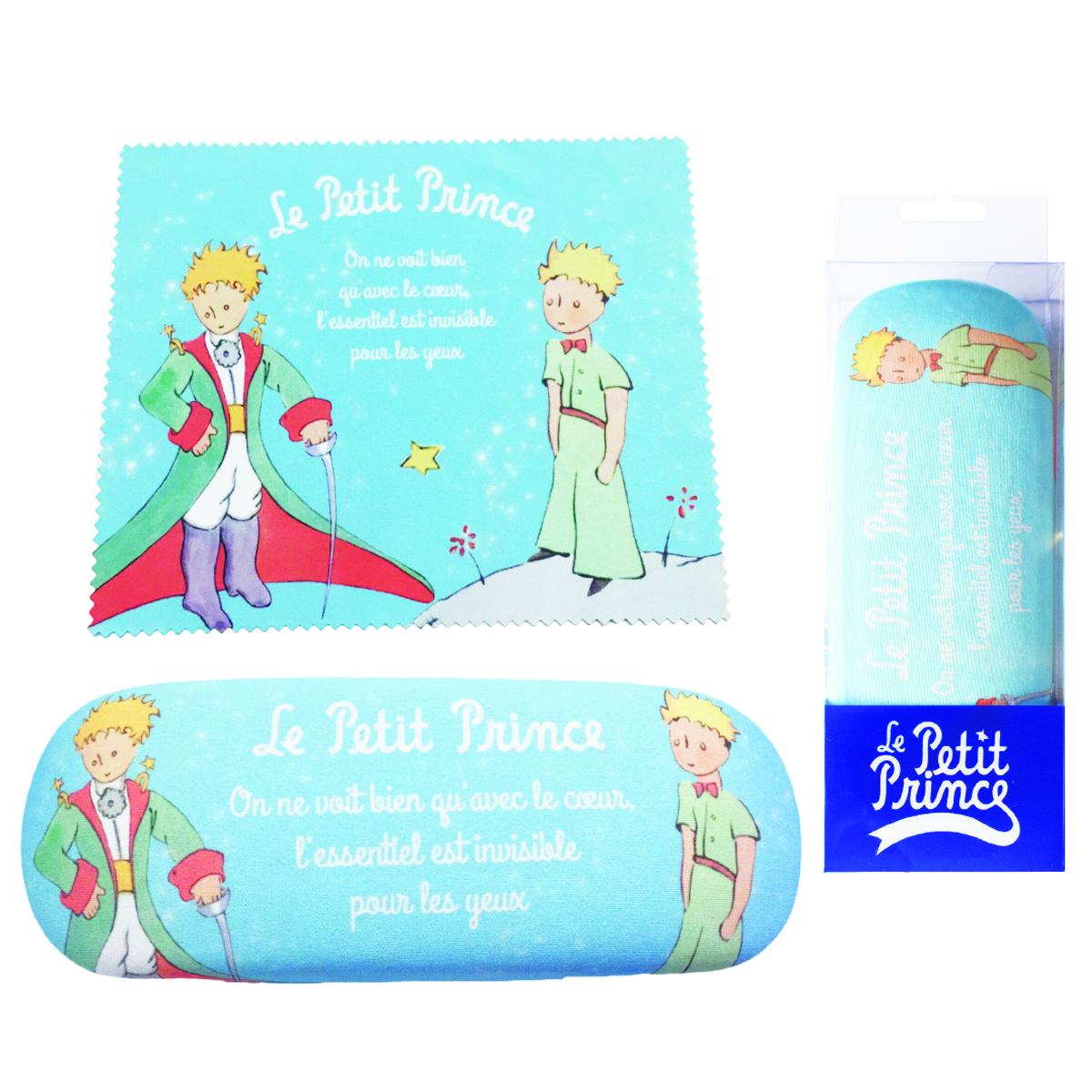 Etui à lunettes créateur \'Le Petit Prince\' bleu clair - 16x6 cm - [Q3785]