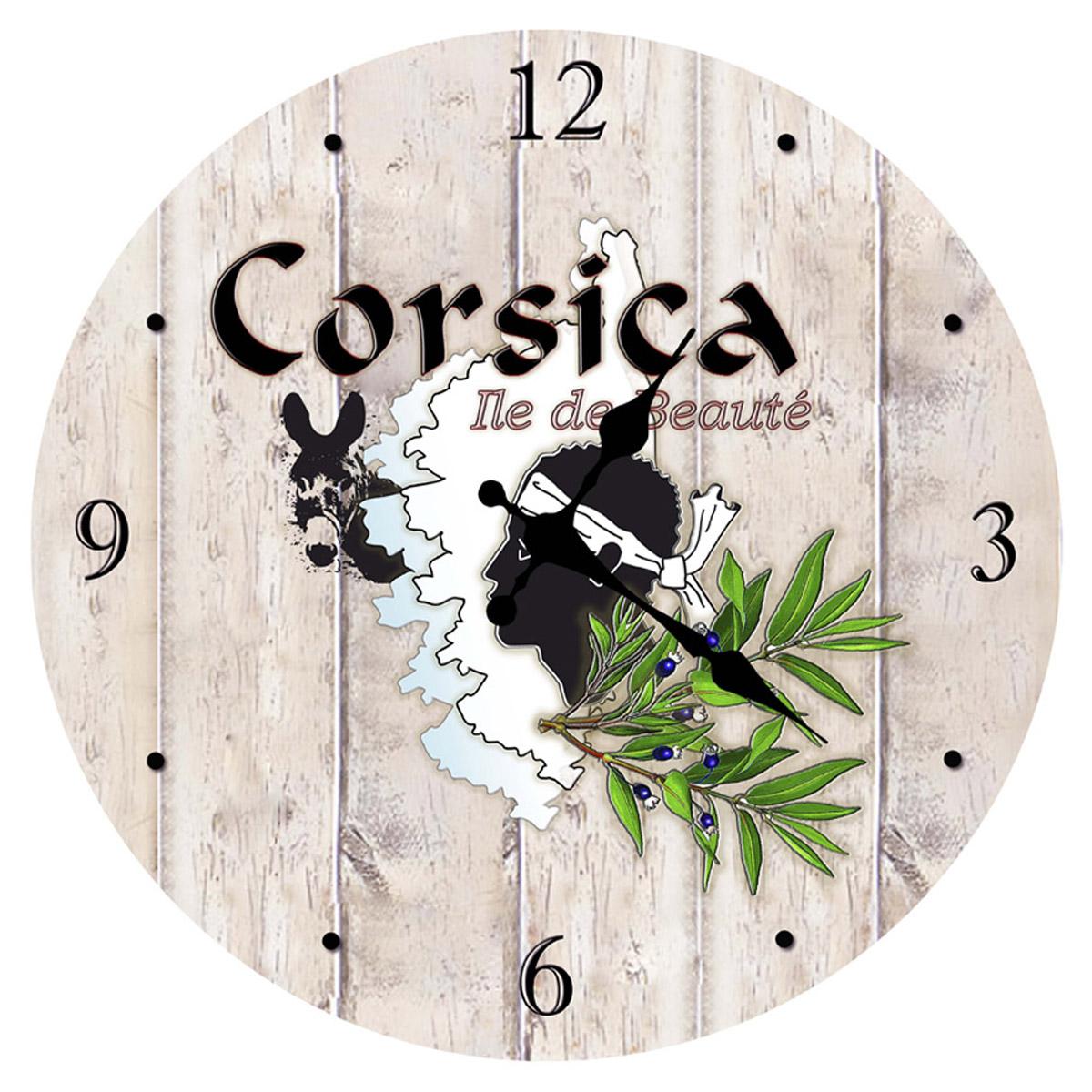 Horloge Murale \'Corsica\' beige -  29 cm - [Q8311]