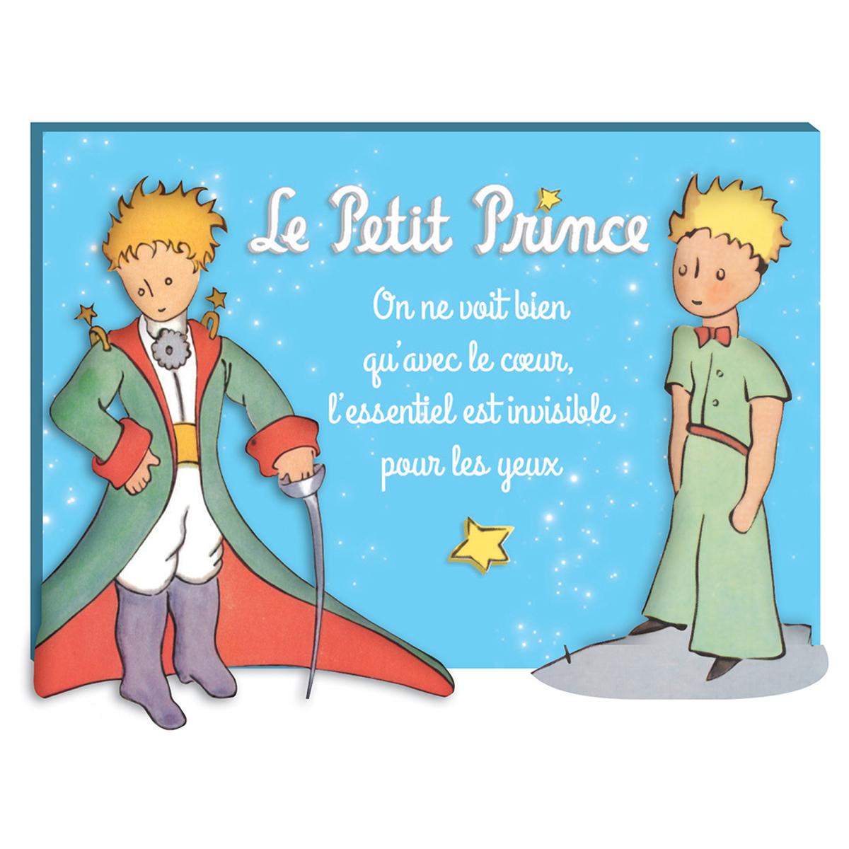Magnet résine \'Le Petit Prince\' turquoise (nuit étoilée) - 7x5 cm - [Q9498]