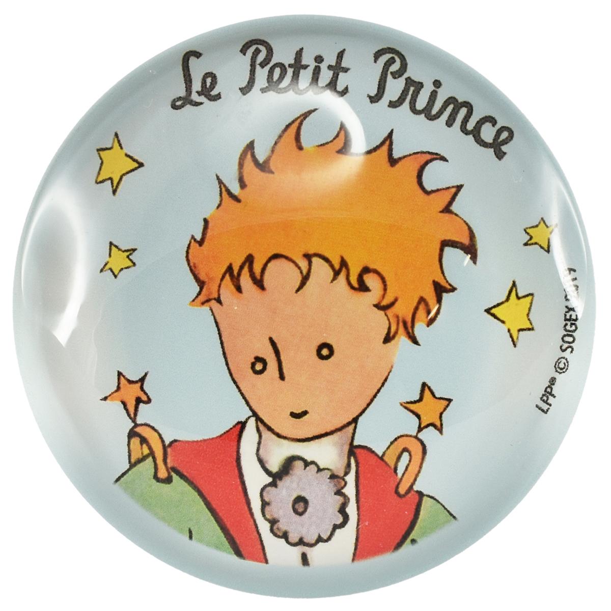 Magnet verre \'Le Petit Prince\' bleu ciel - 5 cm - [R0005]