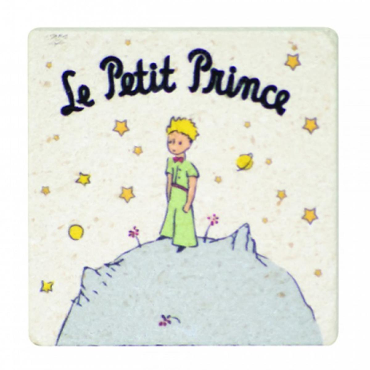 Magnet pierre \'Le Petit Prince\' beige - 45x49 mm - [R1751]