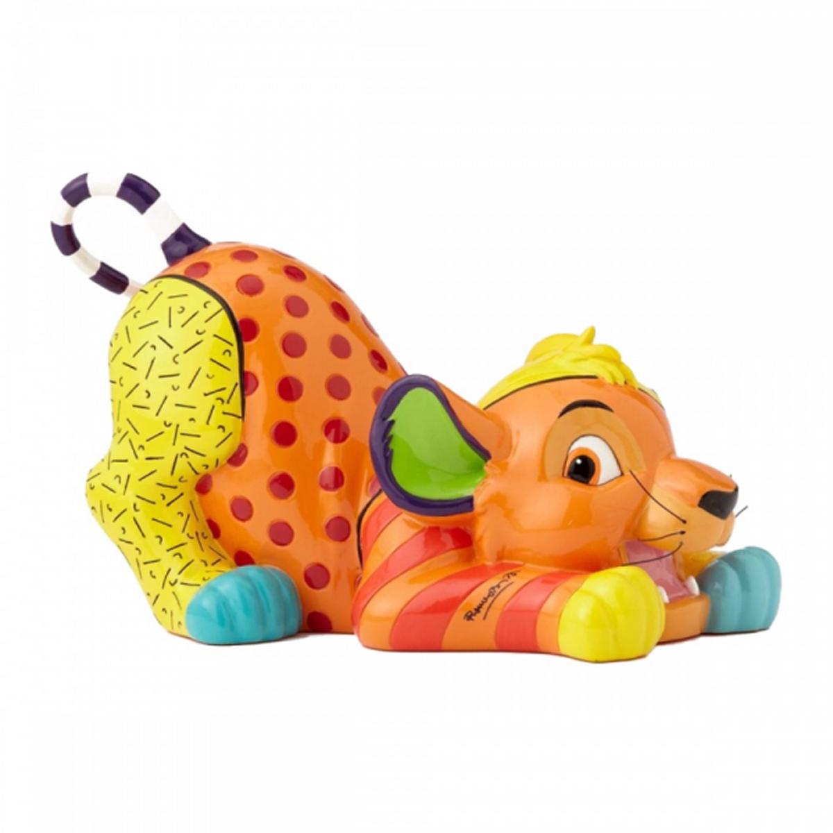 Figurine créateur \'Le Roi Lion\' Simba (Britto) - 19x12x12 cm - [R2029]