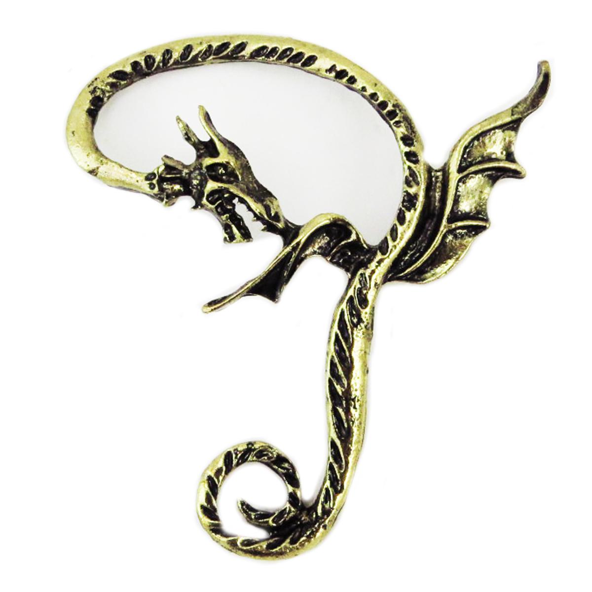 Bague oreille \'Dragon Mystique\' doré - 50x45 mm - [R4049]