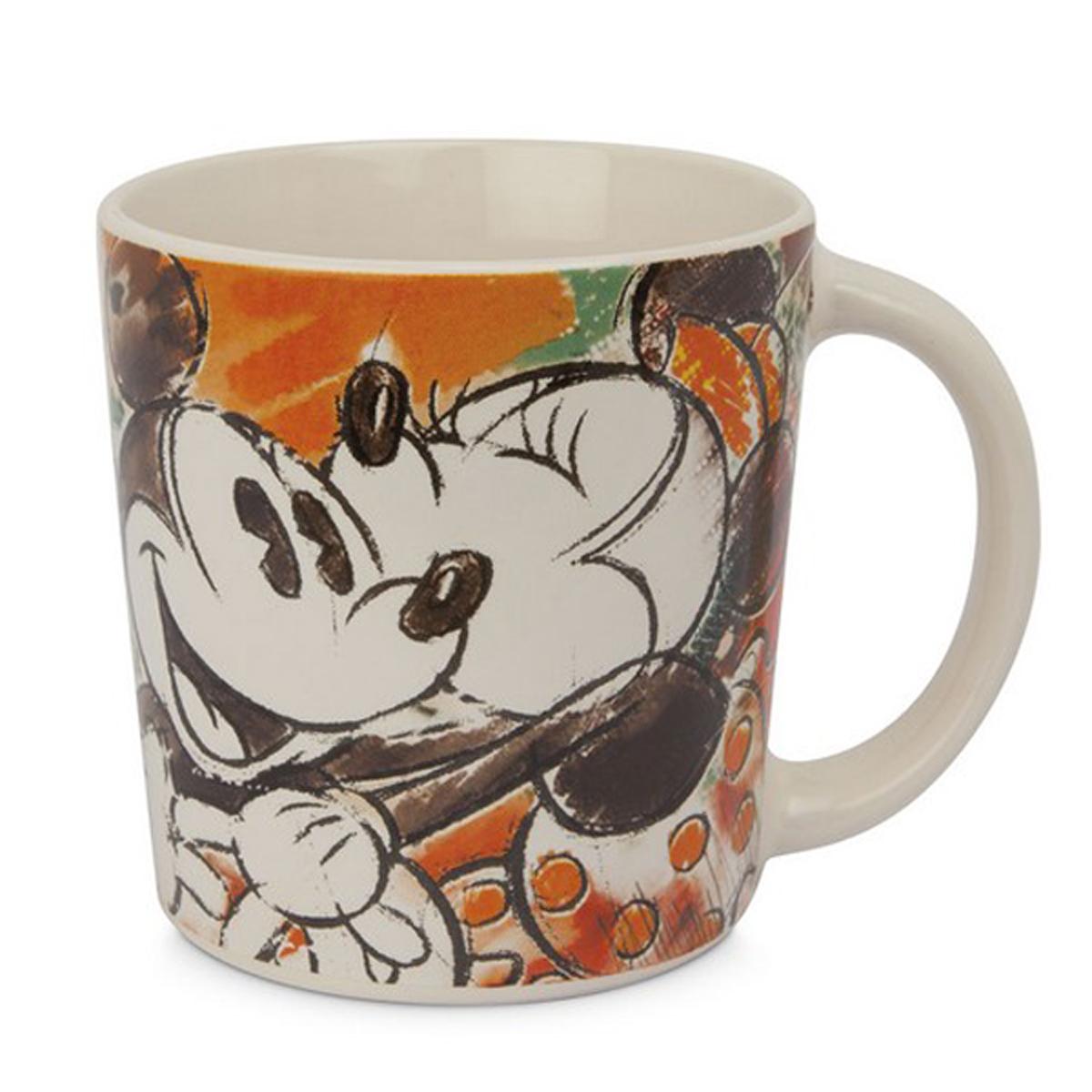 Mug céramique \'Mickey & Minnie\' orange - 95x90 mm (390 ml) - [A1481]