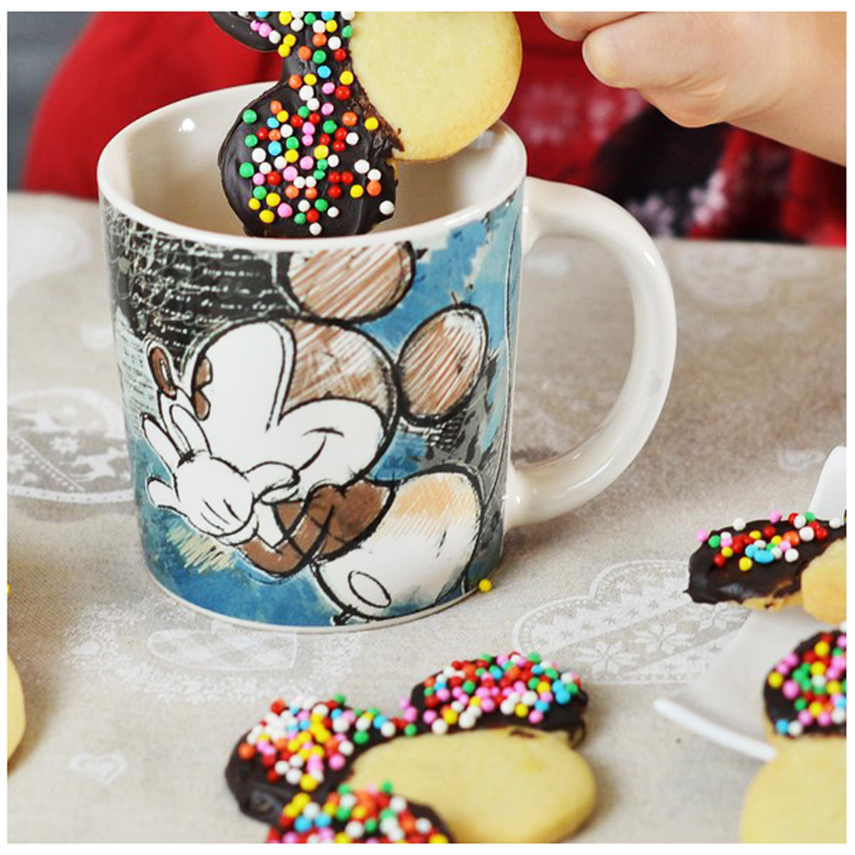 Mug céramique \'Mickey\' turquoise - 95x90 mm (390 ml) - [A1482]