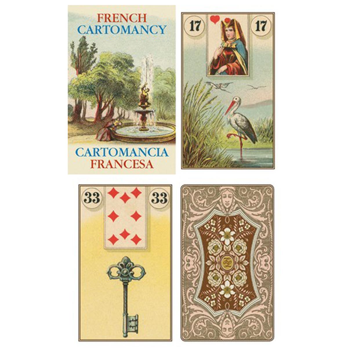 Cartes Oracles \'Cartomancie Française\' - 10x6 cm - [A1998]