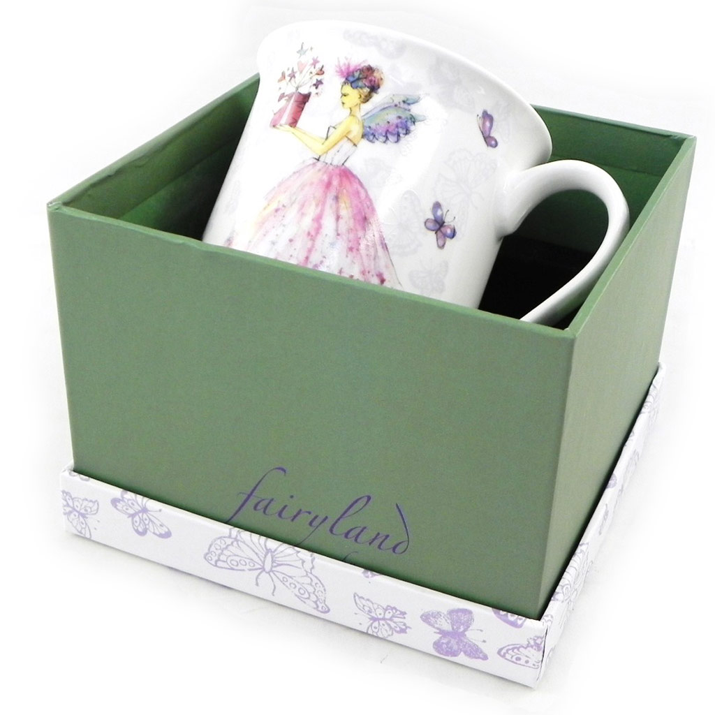 Mug porcelaine \'Fairy Dreams\' rose - 87x83 mm - [H5613]