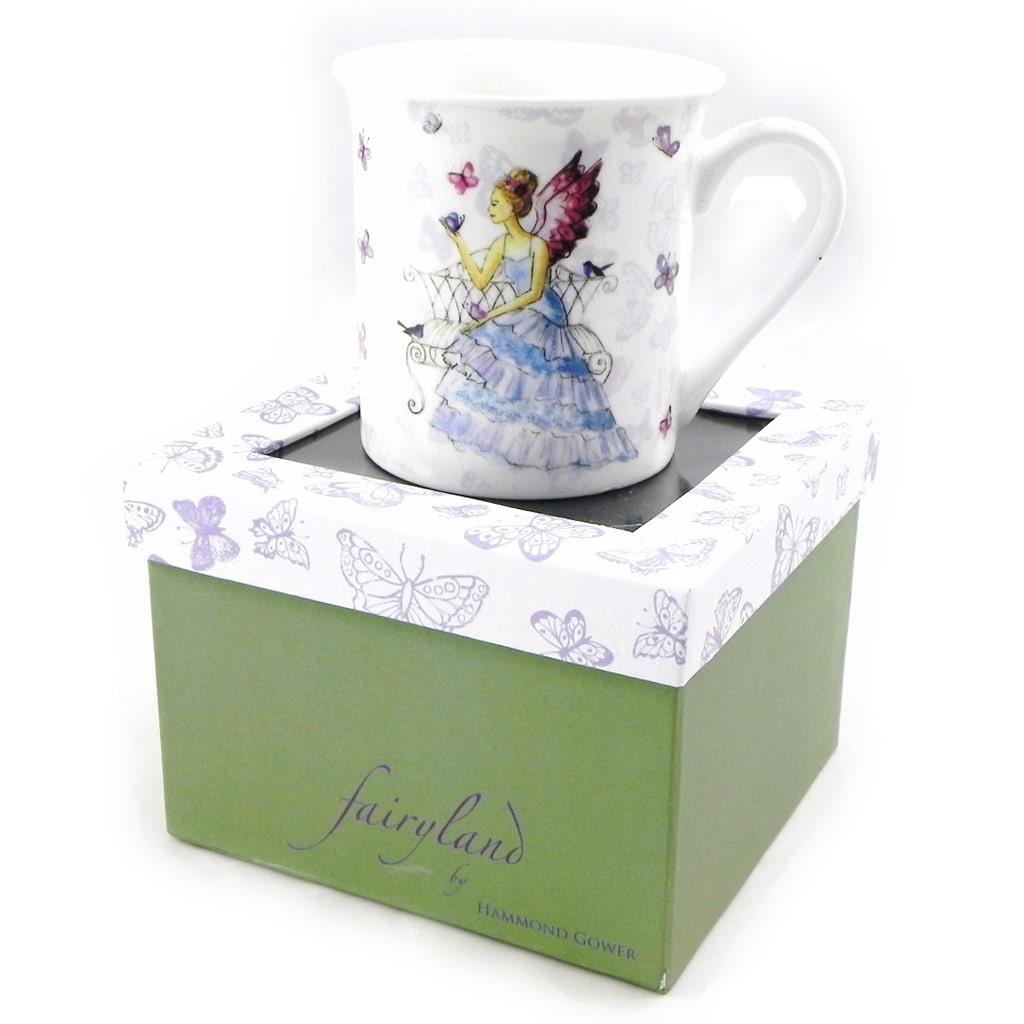 Mug porcelaine \'Fairy Dreams\' bleu - 87x83 mm - [H5623]
