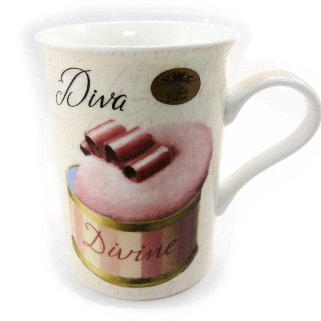 Mug porcelaine \'Belle Epoque\' rose beige - 100x105 mm - [J0590]
